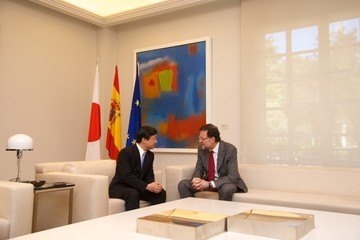 Prince Naruhito Of Japan Mariano Rajoy Meets with Crown Prince Naruhito