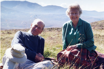 Prince Philip Queen Elizabeth II And The Duke of Edinburgh At The Top Of The Coyles Of Muick, By The Countess Of Wessex