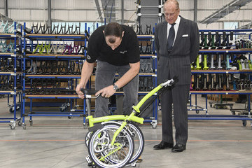 Prince Philip The Duke Of Edinburgh Opens The New Brompton Bicycle Factory