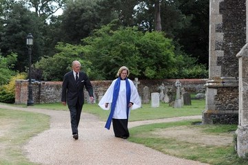 Prince Philip Prince Philip Attends Sandringham Church