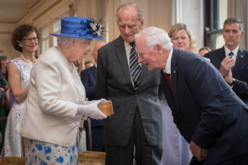 Prince Philip The Queen and the Duke of Edinburgh visit Canada House to celebrate Canada's 150th anniversary of Confederation