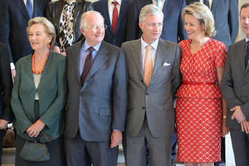 Prince Philippe King Albert and Queen Paola Visit Laeken Castle