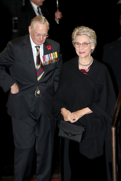 The Queen And Members Of The Royal Family Attend The Royal British Legion Festival Of Remembrance [the royal family attend the annual royal british legion festival of remembrance,event,suit,formal wear,official,gesture,award,richard,queen,members,birgitte,duchess,gloucester,royal albert hall,england,royal british legion festival of remembrance]