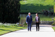 Prince Charles, Prince of Wales takes a walk during the reopening of Hillsborough Castle on April 09, 2019 in Belfast, Northern Ireland.