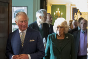 Prince Charles, Prince of Wales and Camilla, Duchess of Cornwall during a reception at Hillsborough Castle on April 9, 2019 in Belfast, Northern Ireland.