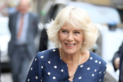 Camilla, Duchess Of Cornwall during a visit to the Progetto Arcobaleno Association where she will meet victims of human trafficking and domestic violence and the volunteers and staff who support them on day three of her tour of Italy on April 2, 2017 in Florence, Italy.