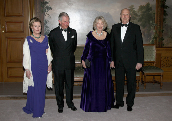 (L-R) Queen Sonja of Norway, Prince Charles, Prince of Wales, Camilla, Duchess of Cornwall and King Harald of Norway attend an official dinner at the Norwegian Royal Palace on March 20, 2012 in Oslo, Norway.  Prince Charles, Prince of Wales and Camilla, Duchess of Cornwall are on a Diamond Jubilee tour of Scandinavia that takes in Norway, Sweden and Denmark.
