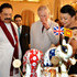 Prince Charles Photos - Prince Charles, Prince of Wales (centre) is presented with a birthday cake topped with three Elephants, by the President of Sri Lanka Mahinda Rajapaksa (left) and his wife Shiranthi (right) at the Presidents Palace on November 14, 2013 in Colombo, Sri Lanka. The Royal couple are visiting Sri Lanka in order to attend the 2013 Commonwealth Heads of Government Meeting. - Prince Charles and Camilla Parker Bowles Visit Sri Lanka: Day 1