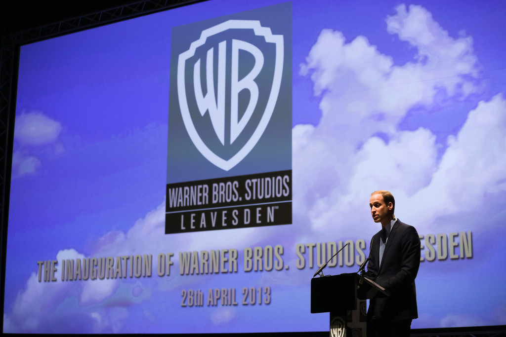 Prince William - The British Royals Tour the Warner Bros. Studios 16