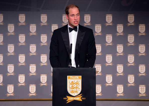 Prince William - The Duke Of Cambridge Attends The Football Association 150th Anniversary Gala Dinner