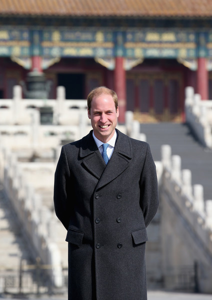 Prince William Prince William, Duke of Cambridge poses for a photograph during a visit to the Forbidden City on March 2, 2015 in Beijing, China. The Duke of Cambridge is on a four day visit to China. The Duke of Cambridge is the most senior royal to visit China since the Queen and Duke of Edinburgh in 1986. His visit follows on from a successful four day visit to Japan