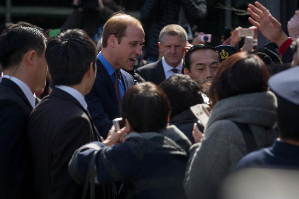 Prince William Prince William, Duke of Cambridge meets with fans as he departs Tsutaya bookstore after launching the Innovation is GREAT exhibition on February 28, 2015 in Tokyo, Japan. The Duke of Cambridge is visiting Japan from February 26th to March 1st 2015.