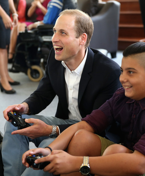 Prince William Prince William, Duke of Cambridge plays Sony Wii with young people as he visits an Access Centre for young people called Agenzija Appogg during an official visit to Malta on September 21, 2014 in Valletta, Malta. Prince William, Duke of Cambridge is making an official two day visit to Malta as a representative of Queen Elizabeth II. Originally the Duchess of Cambridge was due to make the trip as her first solo overseas engagement as part of Malta's fiftieth Anniversary of Independance but had to cancel due to acute morning sickness with her second child.