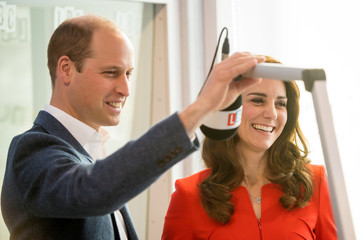 Prince William The Duke & Duchess of Cambridge and Prince Harry Officially Open the Global Academy