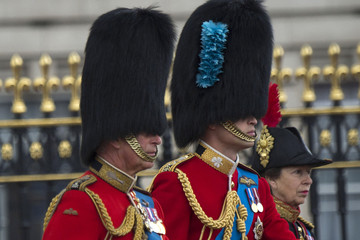 Prince William Prince Charles Queen Elizabeth II's Birthday Parade: Trooping The Colour
