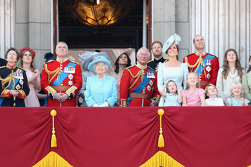Prince William Prince Charles HM The Queen Attends Trooping The Colour