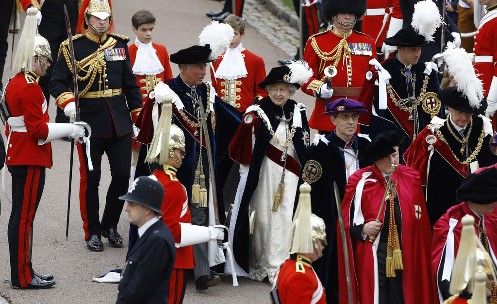 Prince Charles and Prince William - The Order of the Garter Service in Windsor