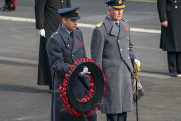 Prince William Prince Charles National Service Of Remembrance At The Cenotaph