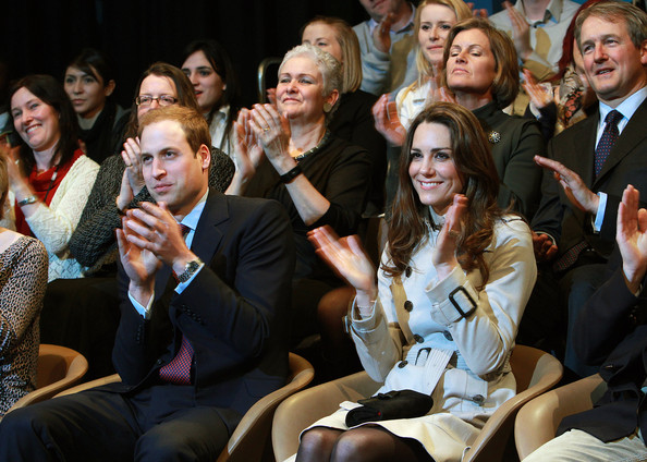 Prince William Prince William and Kate Middleton watch a play at the Youth Action Northern Ireland centre in Belfast. The couple watched a short play and met some of the crowds outside the centre during their one day visit on March 08, 2011 in Belfast, Northern Ireland. The Royal Couple are visiting Northern Ireland as part of a tour of the Nation that a couple of weeks ago took them to St Andrews University in Scotland and Anglesey in North Wales to launch a lifeboat. This day-long trip to Ireland has been kept top secret due to security issues. They will marry on the 29th April at Westminster Abbey in a much anticipated ceremony.