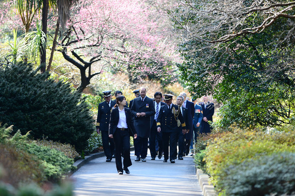 Prince William Prince William, Duke of Cambridge visits Hodogaya Commonwealth War Graves Cemetery on the second day of his visit to Japan on February 26, 2015 in Yokohama, Japan. The Duke of Cambridge is visiting Japan from February 26th to March 1st 2015.