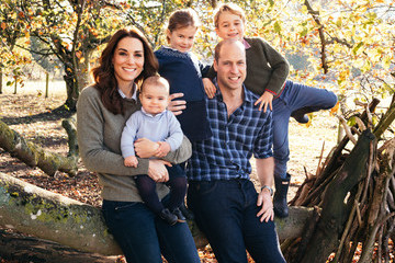 Prince William Princess Charlotte The British Royal Family Release Their Christmas Cards
