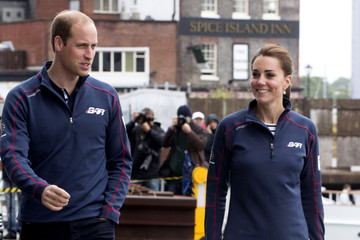 Prince William The Duke and Duchess of Cambridge Attend the America's Cup World Series
