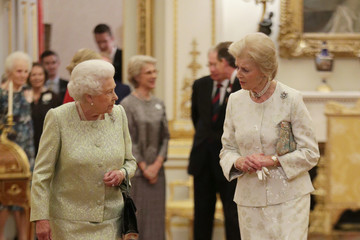Princess Alexandra Queen Elizabeth II Hosts a Reception for Princess Alexandra