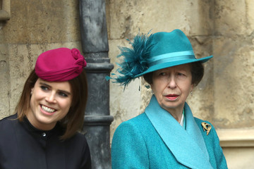 Princess Anne The Royal Family Attend Easter Service At St George's Chapel, Windsor