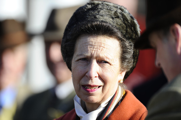 Princess Anne Princess Anne Princess Royal attends Sandown racecourse on March 07, 2014 in Esher, England.