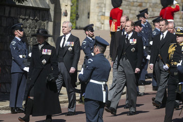 Princess Anne The Funeral Of Prince Philip, Duke Of Edinburgh Is Held In Windsor