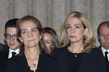 Princess Cristina Spanish Royals Attend Corpore Insepulto Mass For Carlos de Borbon dos Sicilias