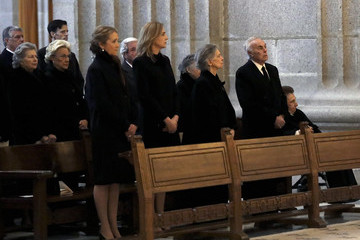 Princess Elena Spanish Royals Attend 25th Anniversary of  King Juan Carlos' Father's Death