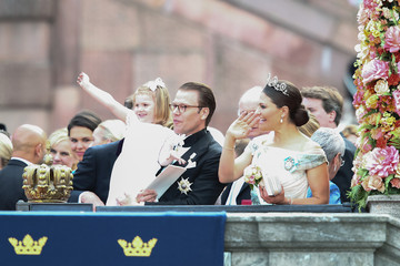 Princess Estelle Departures & Cortege: Wedding of Prince Carl Philip and Princess Sofia of Sweden