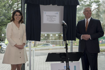 Princess Eugenie Prince Andrew The Duke Of York Visits The Royal National Orthopaedic Hospital