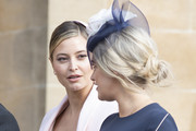 Holly Valance (L) attends the wedding of Princess Eugenie of York to Jack Brooksbank at St. George's Chapel on October 12, 2018 in Windsor, England.