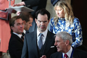 Jimmy Carr arrives ahead of the wedding of Princess Eugenie of York and Mr. Jack Brooksbank at St. George's Chapel on October 12, 2018 in Windsor, England.