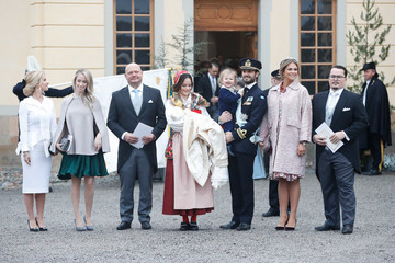 Princess Madeleine Christening of Prince Gabriel of Sweden