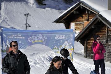 Princess Marie Prince Joachim and Princess Marie of Denmark Hold Annual Skiing Photocall In Col-de-Bretaye