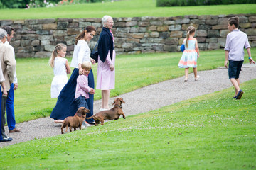 Princess Mary Annual Summer Photocall for the Danish Royal Family at Grasten Castle