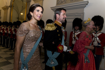 Princess Mary Crown Prince Frederik Of Denmark Holds Gala Banquet At Christiansborg Palace