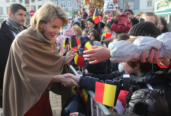 Prince Philippe And Princess Mathilde Of Belgium Visit Luxembourg [mathilde of belgium,philippe,crowd,event,community,crowd,carnival,visit,luxembourg,townhall,neufchateau,belgium]