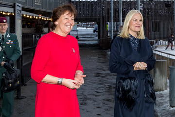Princess Mette-Marit Norwegian Royals Attend Christmas Luncheon in Oslo