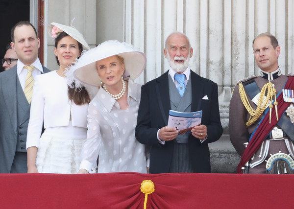 Trooping the Colour 2017 [trooping the colour,event,pope,ceremony,monarchy,michael of kent,frederick windsor,princess,sophie winkleman,prince edward,earl of wessex,l-r,kent,parade]