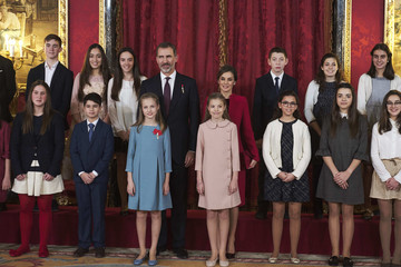 Princess Sofia King Felipe of Spain Delivers Collar of The Distinguished 'Toison de Oro' to Princess Leonor