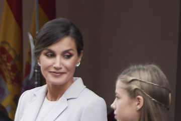Princess Sofia Spanish Royals Attend The National Day Military Parade