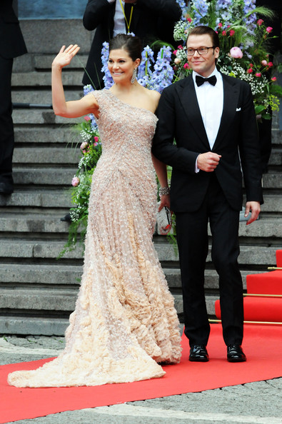 Crown Princess Victoria & Daniel Westling: Gala Performance - Arrivals [gown,dress,red carpet,clothing,carpet,wedding dress,fashion,formal wear,bridal clothing,event,victoria,daniel westling,daniel westling: gala performance - arrivals,government gala performance,sweden,stockholm concert hall,wedding]