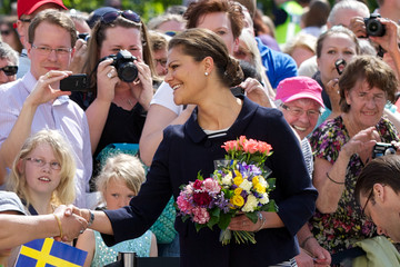 Princess Victoria Princess Estelle of Sweden Carries Out Her First Official Engagement With Her Parents