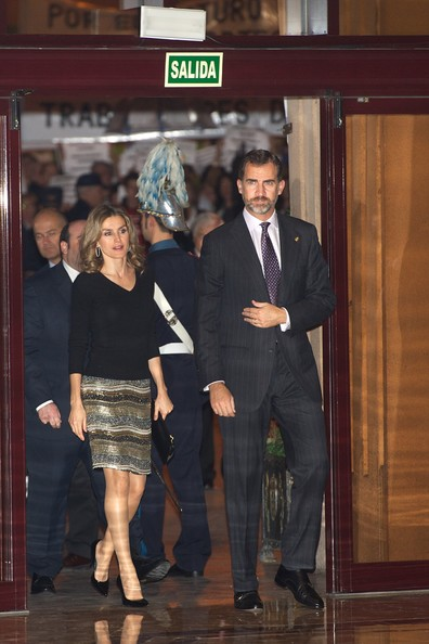 "Prince Felipe of Spain and Princess Letizia of Spain attend ""XXI Musical Week"" closing concert at the Auditorio Principe Felipe during the ""Prince of Asturias Awards 2012"" on October 25, 2012 in Oviedo, Spain."