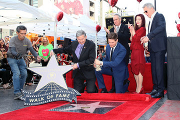 Priscilla Presley Michael Buble Honored With Star On The Hollywood Walk Of Fame