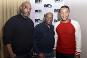 Producer and talent manager Mike Jackson, director John Singleton and singer John Legend attend the Private Dinner Hosted by BET Networks and Liquid Soul at Waldorf Astoria Park City on January 20, 2017 in Park City, Utah.